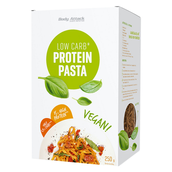 Body Attack Low Carb Protein Pasta Vegan 250g