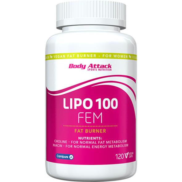 Body Attack Lipo 100-FEM 120 Kapseln