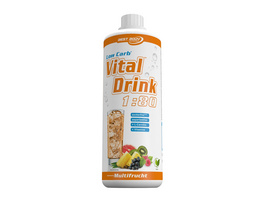 Best Body Nutrition Low Carb Vital Drink 1000ml-Banane-Kirsch